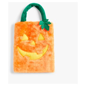 John Lewis Pumpkin Furry Bag