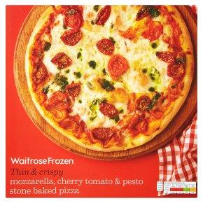 Waitrose Stone Baked Mozzarella & Cherry Tomato & Pesto Pizza