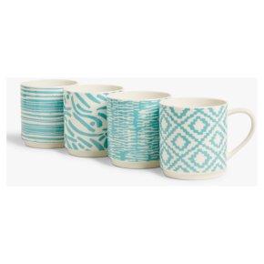 John Lewis Graphic Blue Mug