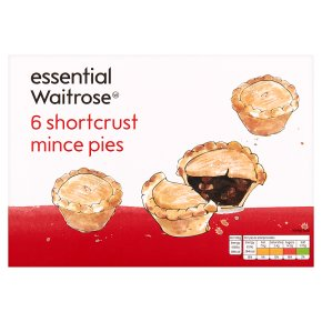 essential Waitrose 6 shortcrust mince pies