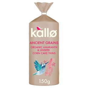 Kallo Ancient Grains Amaranth & Linseed Corn Cake Thins