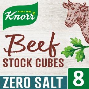 Knorr Zero Salt Beef 8 Stock Cubes