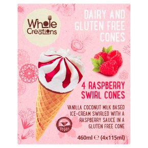 Whole Creations Raspberry Swirl Cones