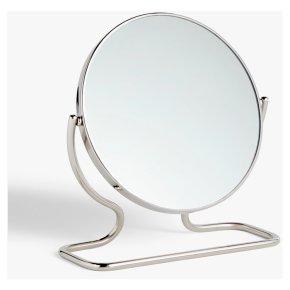 John Lewis Short Framed Pedestal Mirror, Silver
