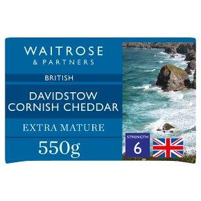 Waitrose Davidstow Cornish Cheddar Extra Mature S6