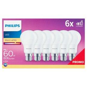 Philips LED Warm White B22 8w