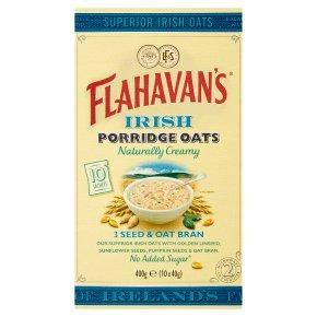 Flahavan's Irish 3 Seed & Oat Bran Porridge Oats 10s