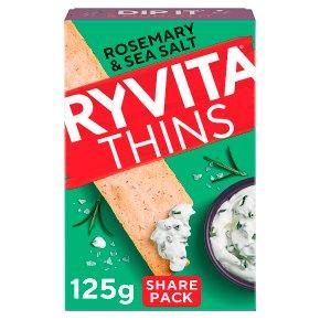 Ryvita Thins Rosemary & Sea Salt Flatbreads
