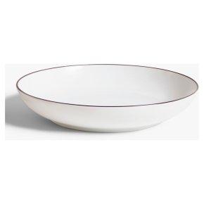 House by John Lewis Rim Pasta Bowl, 24.5cm, White