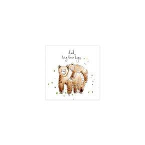 Big Bear Hugs Fathers Day Card