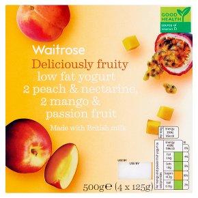 Waitrose Deliciously Fruity Peach & Mango Yogurts