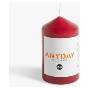 John Lewis Anyday Red Pillar Small