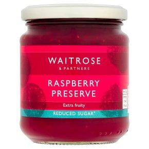Waitrose Reduced Sugar Raspberry Preserve