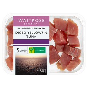 Waitrose Diced Yellow Fin Tuna