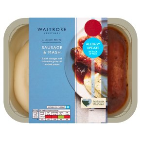 Waitrose Classics Sausage & Mash