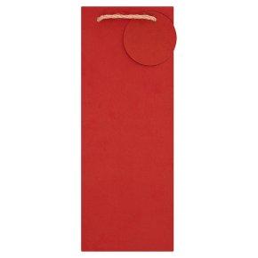 Red Kraft Bottle Bag