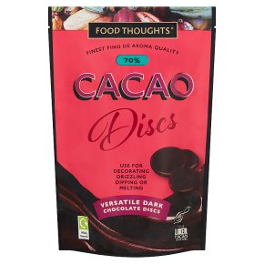 Food Thoughts Dark 70% Cacao Discs