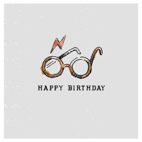 Harry Potter Glasses Birthday Card