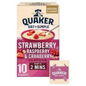 Quaker Oat So Simple Strawberry Raspberry 10 Porridge Sachets
