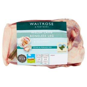 Waitrose Boneless Leg of British Lamb Garlic & Rosemary