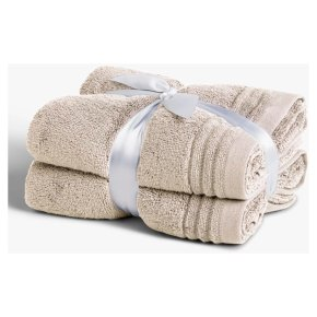 John Lewis Cotton Hand Towel Bale Linen 2 Pack
