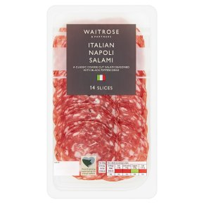 Waitrose Italian Napoli Salami 14 Slices