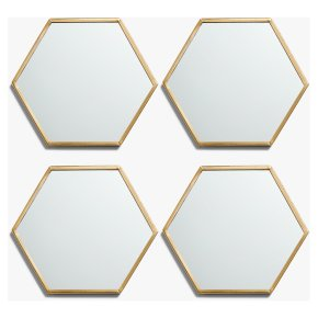 John Lewis Hexagonal Mirror Coasters set of