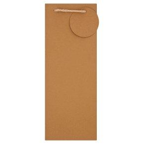 Gold Kraft Bottle Bag