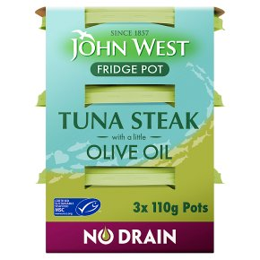 John West No Drain Tuna Steak in Olive Oil
