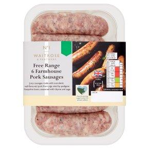 No. 1 Free Range Farmhouse Pork Sausages