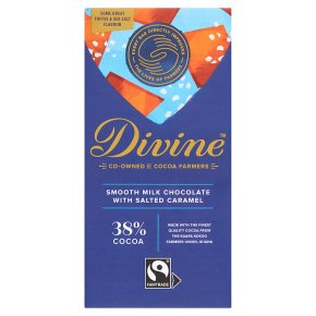 Divine Fairtrade 38% Milk Chocolate Toffee & Sea Salt
