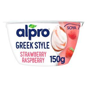 Alpro Greek Style Strawberry Raspberry Yoghurt Alternative