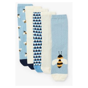 John Lewis 5pk Bees Ankle Highs