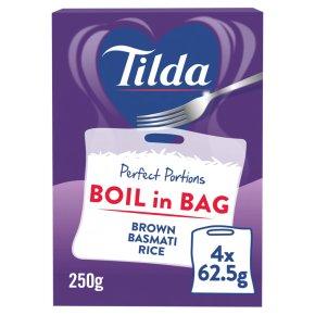Tilda Brown Basmati Boil in Bag Rice