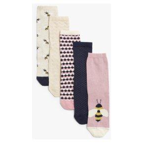 John Lewis Bees Ankle Socks 5pk