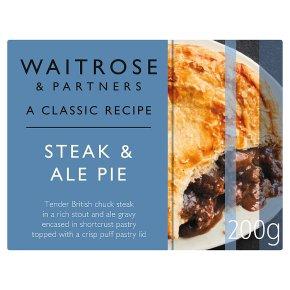Waitrose Classic Steak & Ale Pie