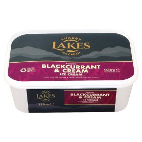 Lakes Blckcurrant & Cream Ice Cream