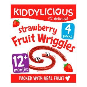 Kiddylicious Fruit Wriggles Strawberry