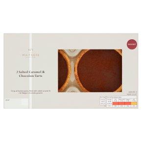Waitrose 1 2 Salted Caramel & Chocolate Tarts