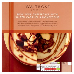 Waitrose New York Cheesecake with Salted Caramel