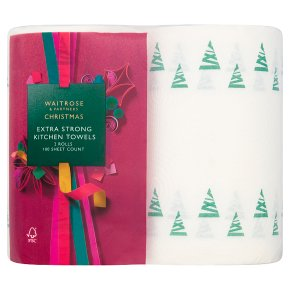 Waitrose Christmas Extra Strong Kitchen Towels