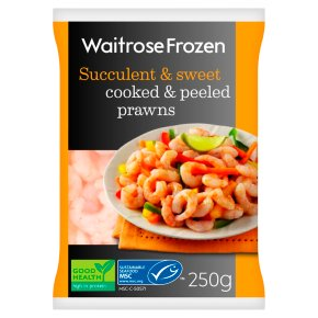 Waitrose Frozen Cooked & Peeled Prawns MSC