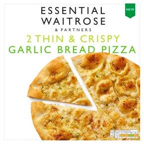 Essential Frozen 2 Thin & Crispy Garlic Bread Pizza