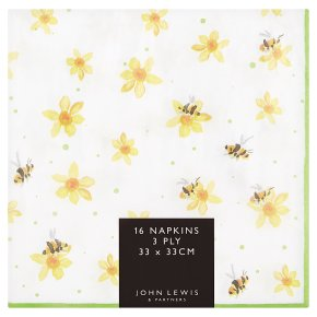John Lewis Bees Napkins 33cm
