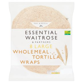 Essential 8 Large Wholemeal Tortilla Wraps