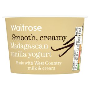 Waitrose Madagascan Vanilla Yogurt