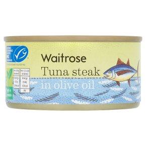 Waitrose MSC Tuna Steak in Olive Oil