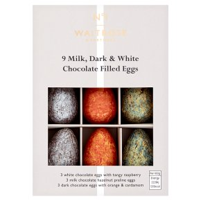 WAITROSE > Food Cupboard > No.1 9 Milk, Dark & White Chocolate Eggs