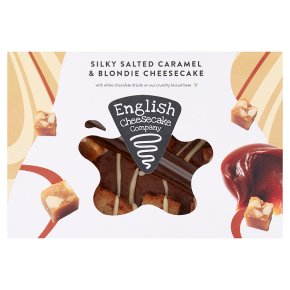 English Cheesecake Salted Caramel & Blondie Cheesecake