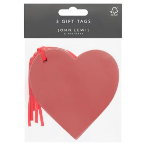 John Lewis Red Star Tags